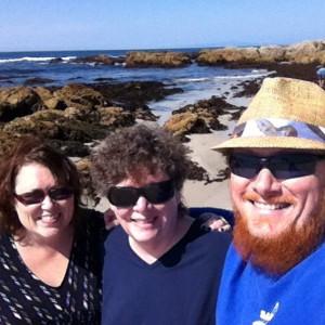 3 on beach