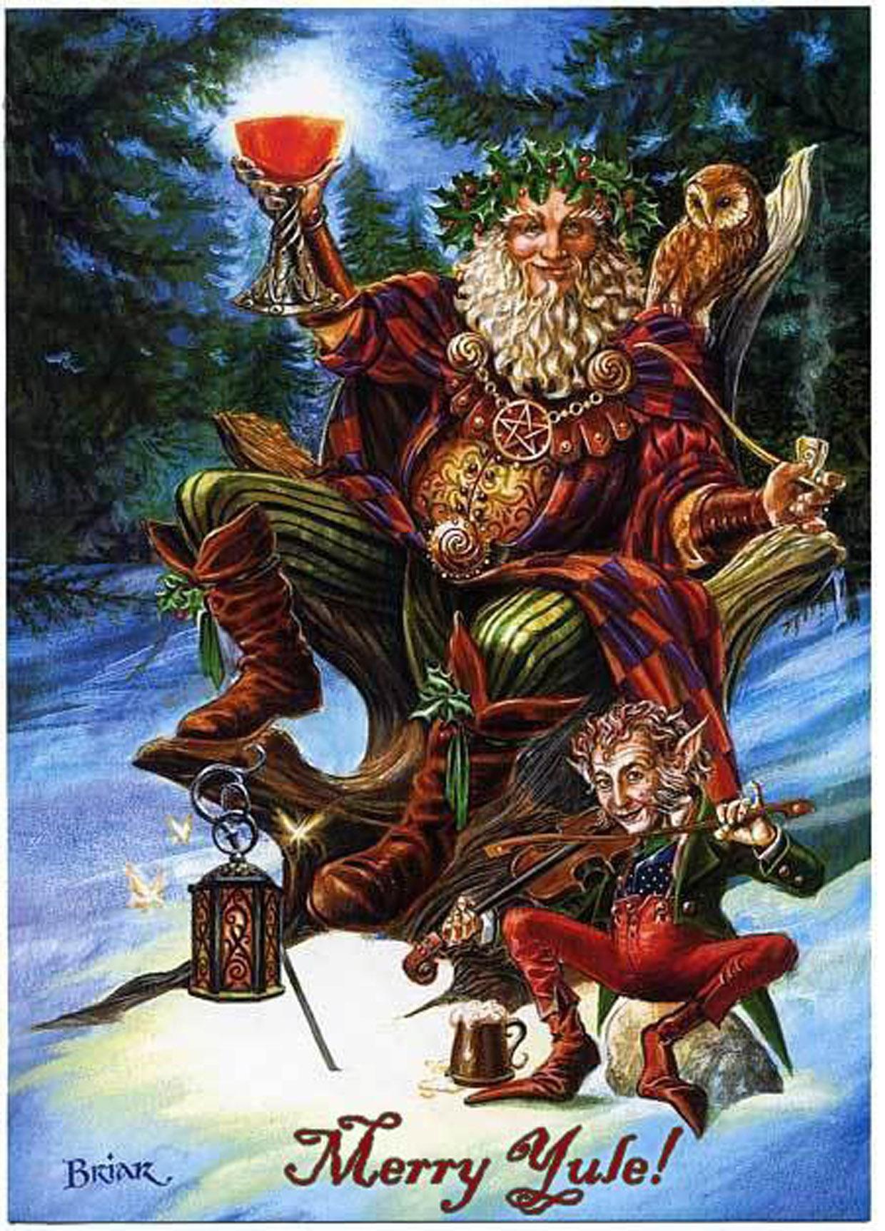 Similiar Wiccan Christmas Cards Keywords