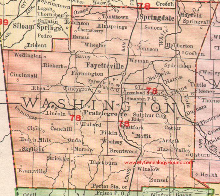 Elevation Of Washington County Ar Usa